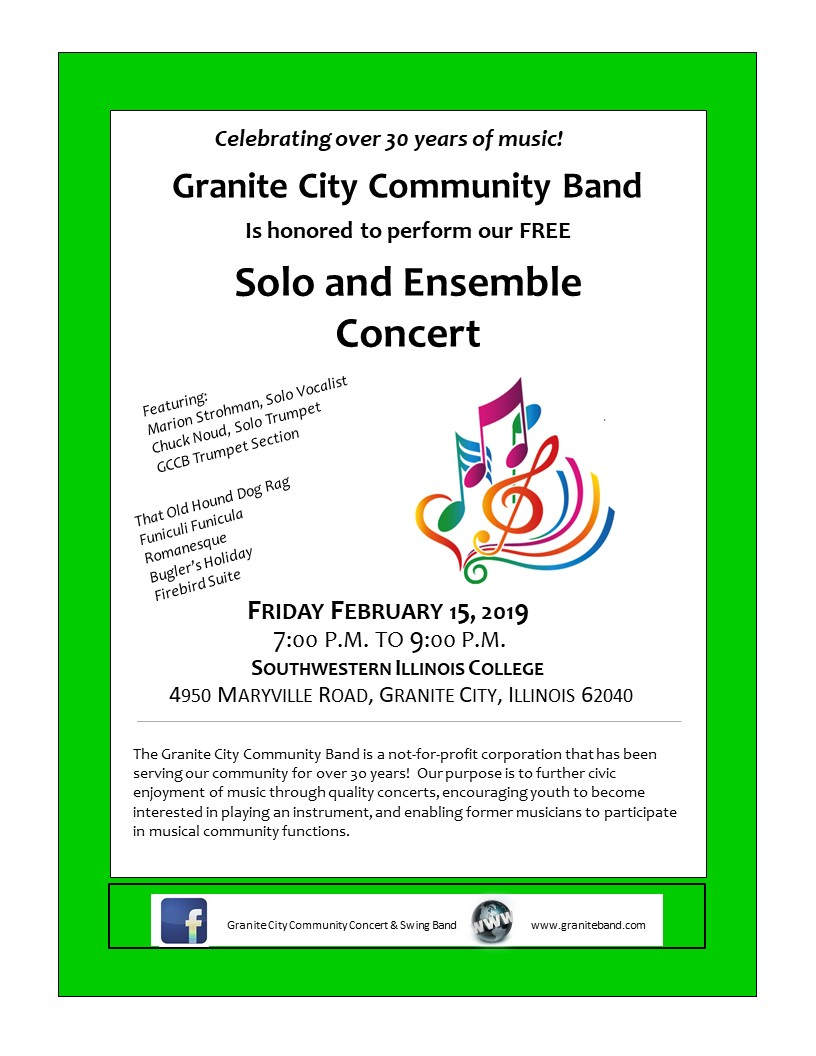 Granite Band flyer February 2019